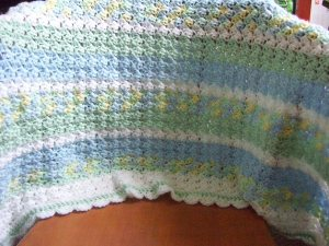 Finished Baby Blanket for Sprout!