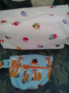 Cupcake Box bag and Sassy Fox Notions Pouch