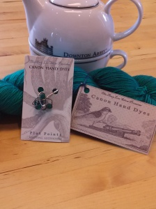 Lavinia Swire sock yarn and matching stitch markers from Canon Hand Dyes