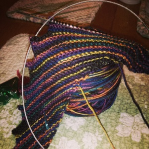 Hitchhiker by Martina Behm in 'Rainbow Night' by Western Sky Knits