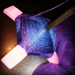 Nebula by Moonrover Yarn on Turtle Made Turkish spindle