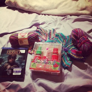 Katy's birthday goodies from Val and The Hobbit from her Hubby & Lil Boy