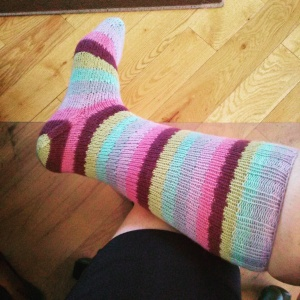 Vanilla Bean sock out of KnitPicks Felici 'Wizard'