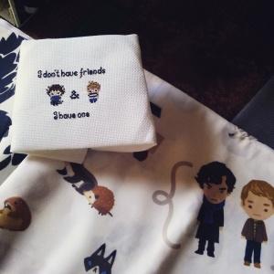 Sherlock Cross Stitch for IAmSherlockedSwap